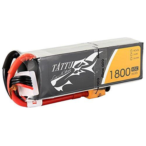 Tattu 10019 - Batería LiPo 1800mAh 14.8V 45C 4S XT60 conector para Multicopteros FPV Racing Helicópteros Barcos y modelos RC diversos , color/modelo surtido