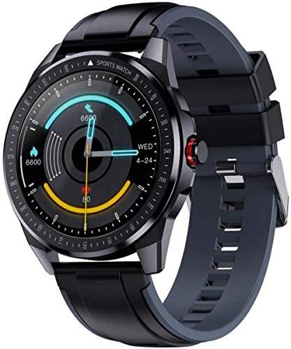 60 días de la vida de la batería reloj inteligente fitness tracker 5ATM impermeable 1.3 pantalla táctil completa ritmo cardíaco/sueño monitoreo podómetro SMS-D