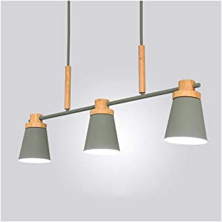 Chandelier M Pendant Light Ceiling Lamp Living Room Decor Dining Table Office Cafe Restaurant E27 Nordic Macaron Wood Iron n (Color : C)