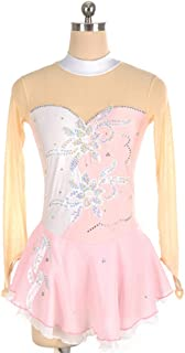 カスタマイズされた子供の大人のフィギュアスケートの服装の性能の衣服の競争の等級のスカート,10,KidsSize:XXXS
