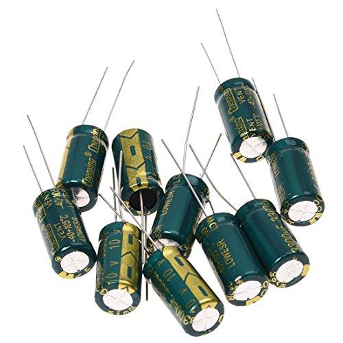 RETYLY 10 Stueck 10V 3300UF Motherboard Elektrolytischer Kondensator Radial