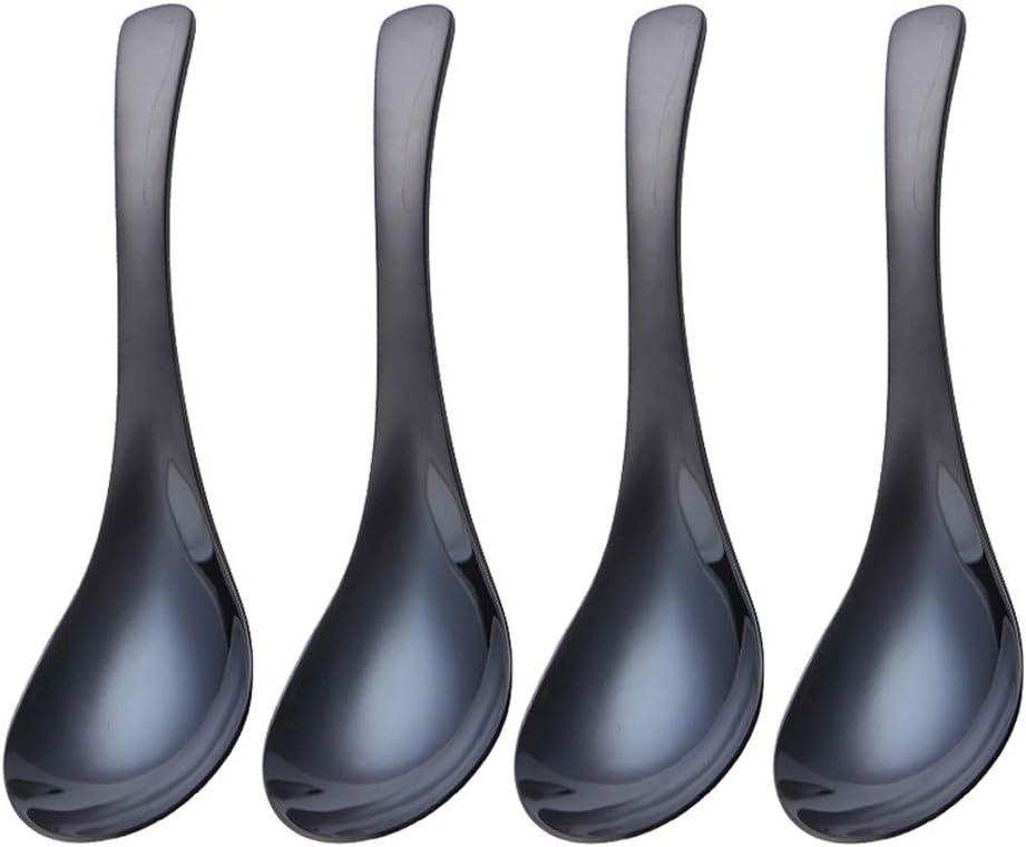 祝開店大放出セール開催中 Asian soup spoons Color Mirror Spoons Table Thic 好評 Stainless Steel