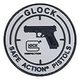 GLOCK Safe Action Pistols Rubber Patch - mit Velcro, Kletthaken und Gegenstück - 8 cm