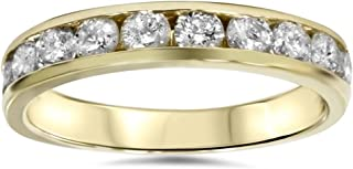 Best channel set diamond band yellow gold Reviews