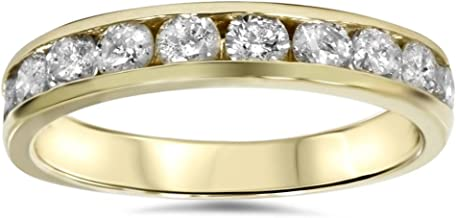 1/2ct 14K Yellow Gold Channel Set Diamond Wedding Ring