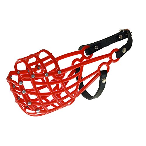 Museau d'entraînement et de muselière Don Pare Model 103 pour chiens de taille moyenne avec un fouet à tête étroite en rouge Muselière de course et museau de course par Amathings