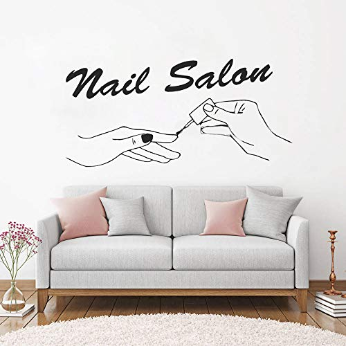 stickers muraux bebe singe Nouveau Nail Salon Nail Salon Signe Polonais Manucure Studio Décor Fenêtre Decal