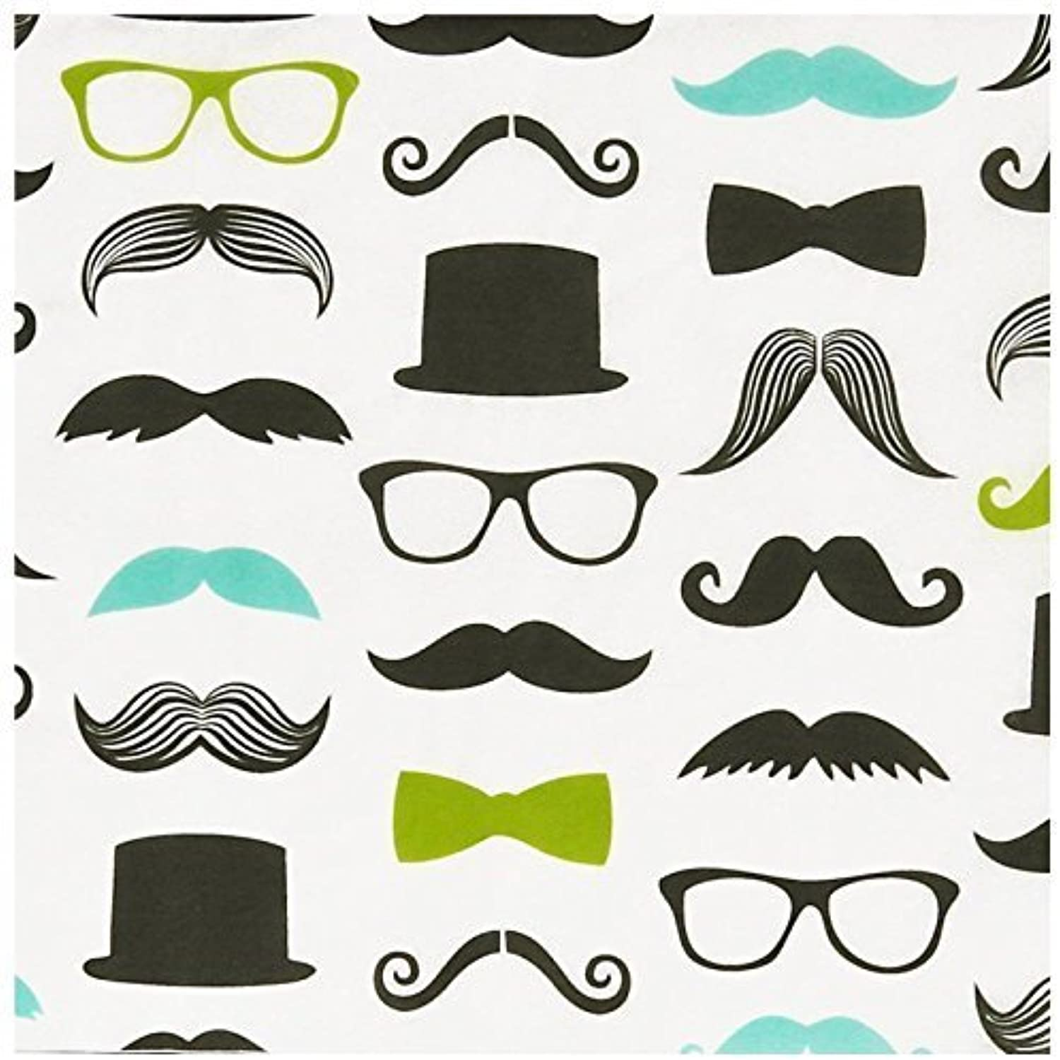 Mustache Man Lunch Napkins (20) by BirthdayExpress