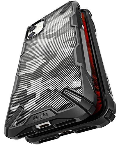 Ringke Fusion-X Design Entwickelt fürs iPhone 11 [Camo Black Schwarz] Verbessert Silikon TPU Stoßfest Black Rahmen Militär Muster Schutzhülle
