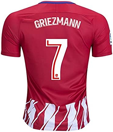 9890c43ac Griezmann 7 Atletico Madrid Home 17 18 Soccer Jersey Mens Color Red Size S