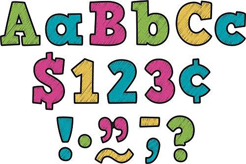 "Chalkboard Brights Bold Block 3"" Letters"