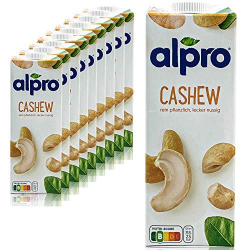 Alpro - 10er Pack Cashew Drink Original 1 Liter - Nuss Cashewdrink 100 % pflanzlich