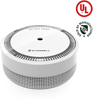 SITERWELL Mini Smoke Detector and Battery Operated Smoke and Fire Alarm 10 Years Photoelectric Micro Smoke Alarm with UL Listed, Test/Silence Button (GS522C)