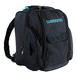 This photo shows the Shimano Black Moon Fishing Backpack.