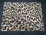 19.5cm x 14cm Künstlich Fell Stoff beige Tier