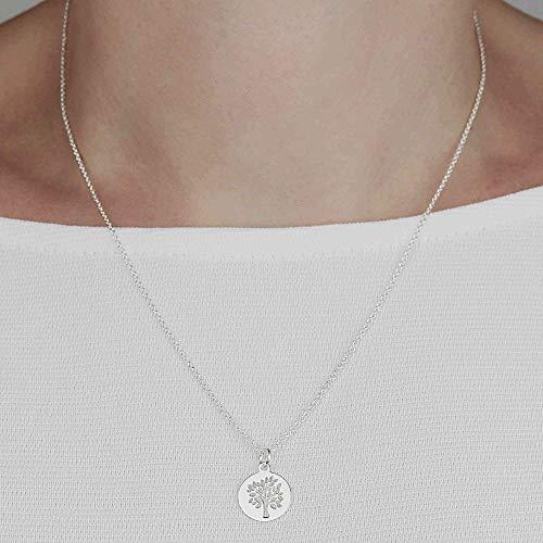 SCHOSCHON Damen Halskette Anhäger Lebensbaum 925 Silber // Geschenkideen Schmuck Kette Baum des Lebens Geschenk