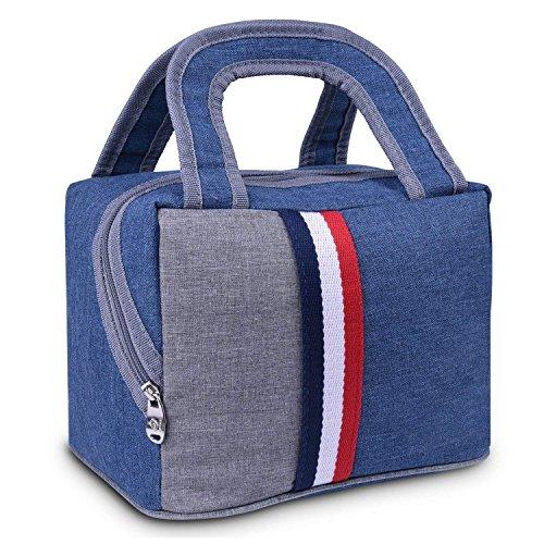 Thick Reis Mittagessen Männer und Frauen Kleine Tasche Tragbare Wasserdichte Oxford Tuch Leinwand Lunchbox Tasche Isolierung Mittagessen Tasche