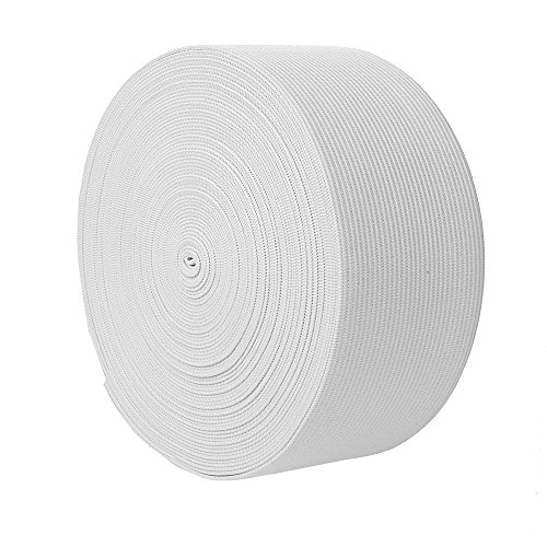 uproll Elastic Bands Spool for Sewing (White, 2 Inch)