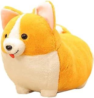 ZZFJF Auspicious Beginning Plush Throw Pillow Cute Corgi Akita Stuffed Animal Soft Plush Doll Dog Kawaii Plush Toy 1pc/30cm