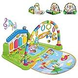 WYSWYG Alfombrilla de Juego para bebés con Luces y melodías, 3 en 1 Actividad Gimnasio Juguetes para bebés Regalo para recién Nacidos Edades 0 ~ 12M, Tema Animal Multicolor (Embalaje estándar-Verde)