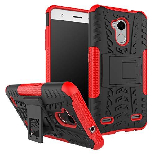 XINFENGDI ZTE V6 Plus/V7 Lite/Blade A2 Hülle,Handytasche Kratzfest aus TPU/PC Material Reifenprofil Handyhülle Kompatibel mit für ZTE V6 Plus/V7 Lite/Blade A2 - Rot