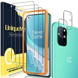 [2+3 Pack] UniqueMe Camera Lens Protector and Screen Protector for Oneplus 8T 5G Termperd Glass [Easy Installation Frame] HD Clear [Anti-Scratch]