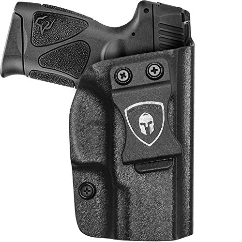 IWB Kydex Holster Fit: Taurus G3C / G2C / Millennium PT111 G2 / PT140, Taurus G3C Inside Waistband Concealed Carry Holster for Men / Women, Adjustable Cant / Retention, Cover Mag Button, Right Hand