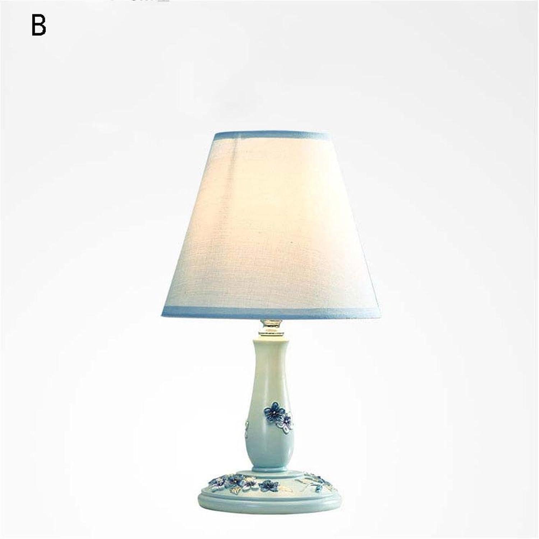 TOYM- Kreative Europische Tischlampe Mode Nette moderne Einfache Schlafzimmer Lampe Nachttischlampe ( Farbe   B )