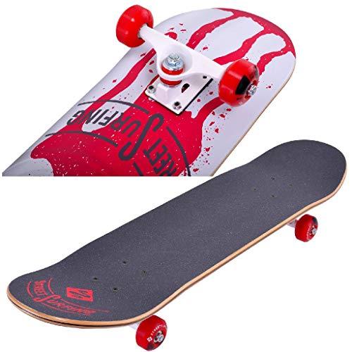 Street Surfing 10-01-005-4 Street Cannon Skateboard, Zwart/Rood/Wit, 79 x 20 cm