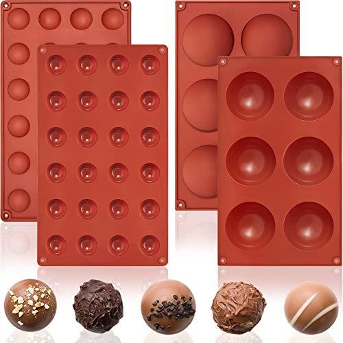 2 Stampo in Silicone a Cupola Set Stampo a Cupola Semisfera Stampo Cioccolato a Mezza Sfera Teglia da Forno a Semicerchio per Resina di Caramelle Tè, Gelatina, Biscotti (Mini e Larga)
