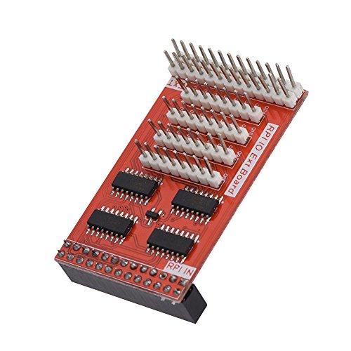 Richer-R GPIO Extension Board, Raspberry Pi IO 32 GPIO Erweiterung Extension Board,Multifunktionale 8-Bit GPIO-Erweiterungskarte für Raspberry Pi