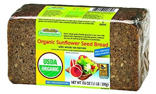 Mestemacher Bread Organic Sunflower Seed, 17.6-Ounce (Pack of 4), 70.4 Ounce