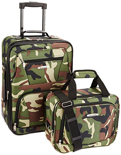 Rockland Fashion Softside Upright Luggage Set, Camouflage, 2-Piece (14/20)