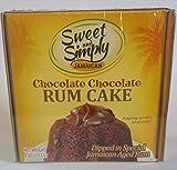 Sweet and Simply Jamaican Chocolate Chocolate Rum Cake 4oz