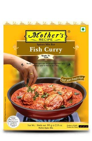 Mother's In stock Recipe Max 47% OFF Spice Mix for Fish Curry Pack - 3 Masala Gms 80