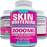 Glutathione Skin Whitening Pills - Vegan Skin Bleaching Pills for Dark Spots, Acne & Scar Removal - Made in USA - Natural Glutathione Supplement with Anti-Aging Properties