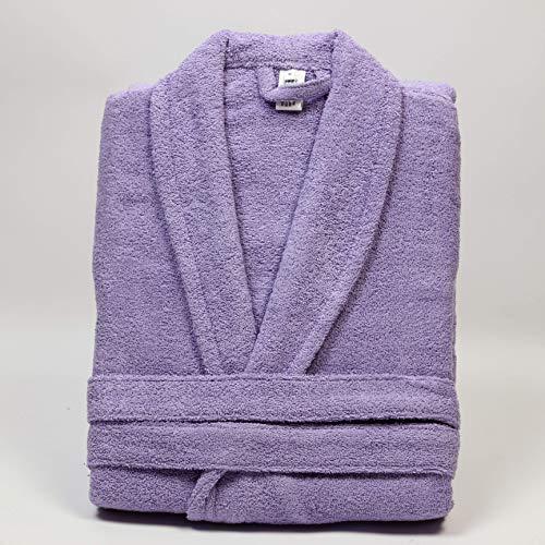 Flor de Coton badjas, 400 g/m2, 100% katoen, violet, maat M 165/170 cm