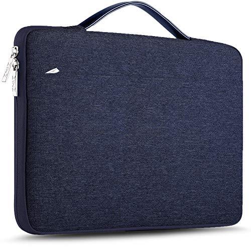 ZINZ Maletín 15 15,6 16 Funda Portátil Impermeable para 15-16 Pulgadas MacBook Pro 16 15, Surface Laptop 3 15,XPS 15 Laptop Ultrabook Netbook, DELL HP Lenovo Acer ASUS y más, Azul