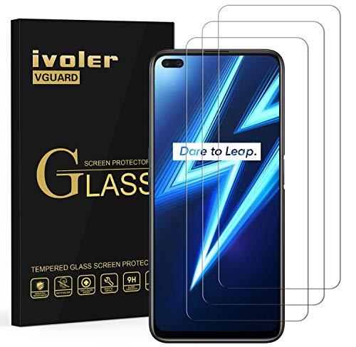ivoler 3 Unidades Protector de Pantalla para OPPO Realme 6 Pro, Cristal Vidrio Templado Premium para OPPO Realme 6 Pro