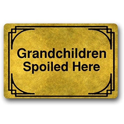 Norma Lily Grandchildren Spoiled Here Funny Fußmatte Welcome Fußmatte Langlebige Waschmaschine Gewaschen Indoor-/Outdoor 23,6(L) X 15,7(W) Zoll