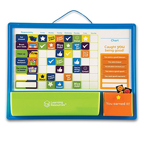 Learning Resources Good Job Reward Chart, Custom Magnetic Chore and Responsibility Chart for Kids, 91 Piece Set, Ages 3+