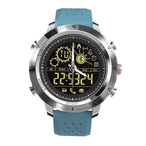 dayday Hochwertige DIY Automobile Car Interior Moulding NX02 Sport Smartwatch IP67 Wasserdichter Support Tracker Kalorien Schrittzähler Smartwatch (Color : Blue)