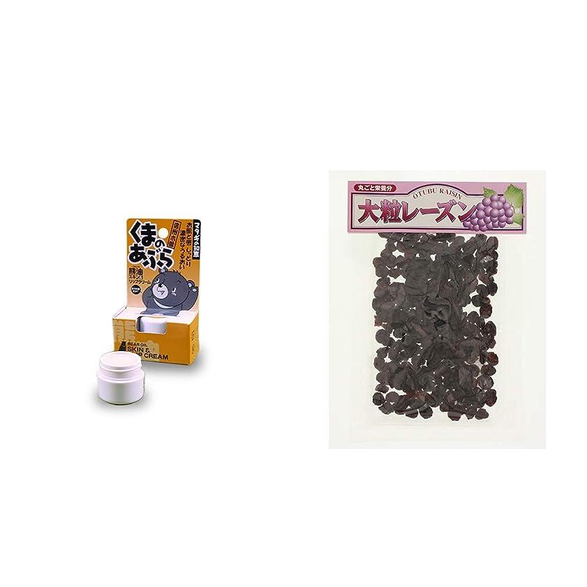 休戦エキスポケット[2点セット] 信州木曽 くまのあぶら 熊油スキン&リップクリーム(9g)?大粒レーズン(280g)