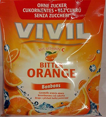 Vivil Bonbons Bitter Oranhe mit Vitamin C (2 x 80g) - Ohne Zucker