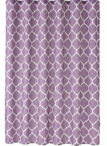 Home Classics Purple Trellis Fabric Shower Curtain Bath Decor