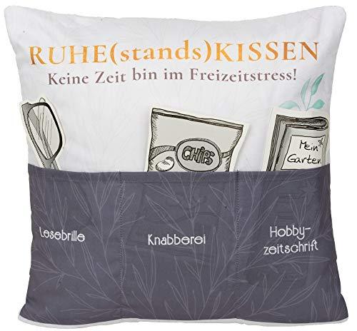 Hergo Sofahelden Kissen mit Taschen 43x43cm - Ruhestandskissen 8842