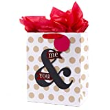 Hallmark 13' Large Anniversary Gift Bag with Tissue Paper (You & Me, Polka Dots on White) for...