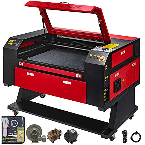Mophorn Laser Engraving Machine 60W Co2 Laser Engraver 700x500mm Laser Engraver Machine USB Port Laser Cutter for Arts and Crafts(60W)