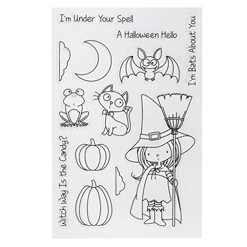 Mr. Better Halloween para Transparente Sellos Silicona Sellos Clear Stamps para DIY Scrapbooking Hacer Tarjetas de Tarjetas Fotoalbum Decorativa