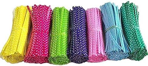 DSHUJC 100 Pcs 9cm Wire Metallic For Cello Candy Bag Steel Baking Packaging Lollipop Dessert Sealing Twist Tie (Color : Ye...